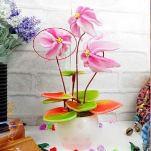 Mesh Nylon flower making kit, pink, 3 flowers, 9cm (diameter of flowers), Anemone coronaria, (xs032)